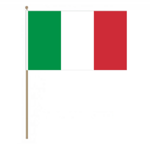 Italy Country Hand Flag, large.